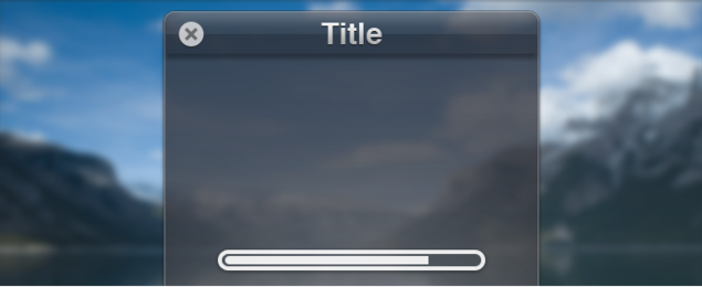 WIndow Interface with Loading Progress Bar