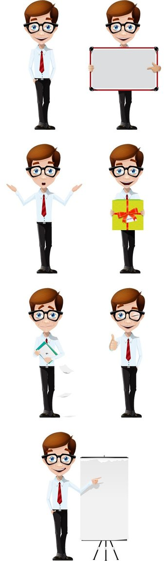 Business Boy Vector Character