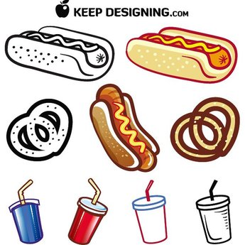 HOT DOG AND DRINK FREE VECTORS.eps