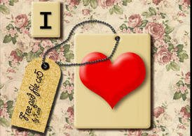 Tiled Love PSD and PNG