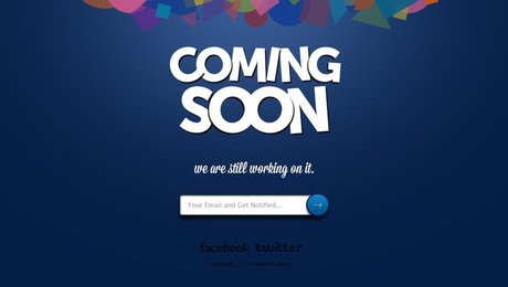 Coming Soon Page Free PSD Template