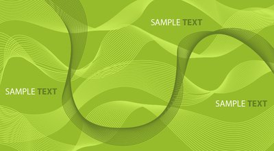 Abstract Green Background with Spiral Lines