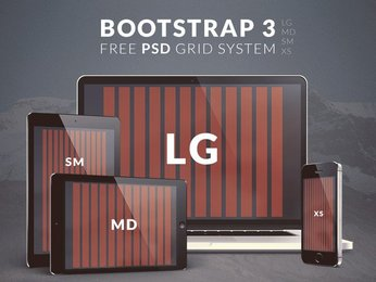 Free Bootstrap 3 PSD Grid System