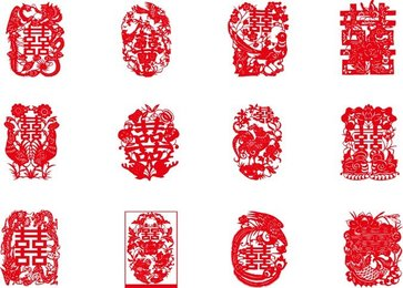 China Traditional Red Hi Words