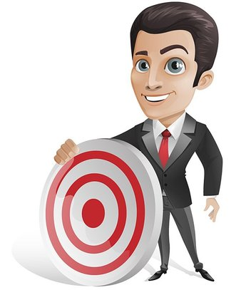 Free Businessman Vector Character Holding a Target