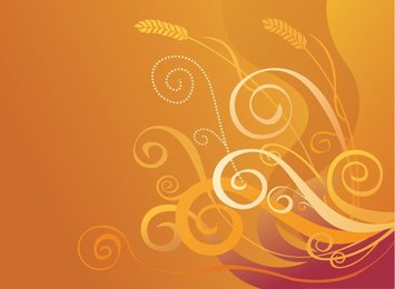Abstract Orange Background with Swirls & Crops (Free)