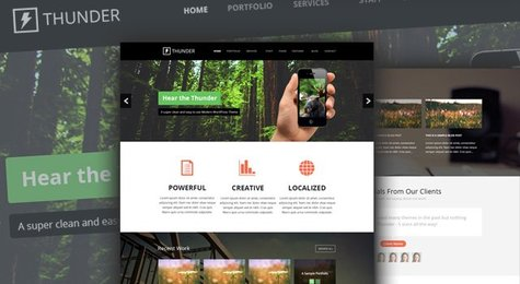Thunder - A Free Mega PSD Website Template