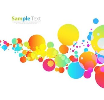 Colorful Pattern on White Background