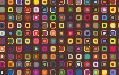 Retro colorful squares making background pattern