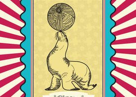 Vitnage Circus Vector Seal Card