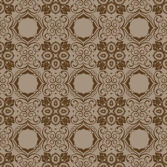 Seamless Floral Pattern Vector Wallpaper