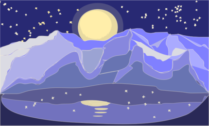 mountains night landscape