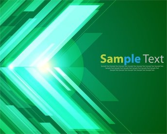 Green Abstract Background with Bright