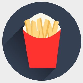 FRENCH FRIES VECTOR ICON.eps