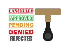Cancelled Icon Vector Stamps