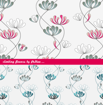 Climbing Flowers - Free Patterns for Photoshop and Illustrator