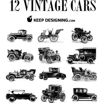 VINTAGE CARS VECTORS.eps