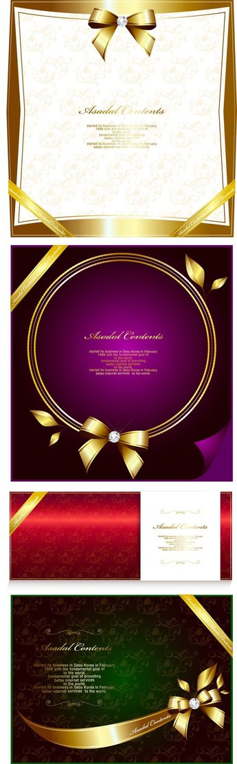 Gorgeous Gold Lace Border Vector 11