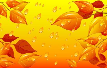 Abstract leaf background vector-3