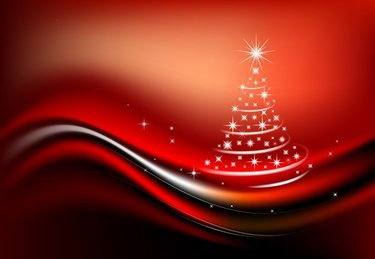Starlight Christmas tree vector material composition
