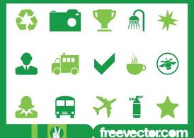 Green Icons Graphics