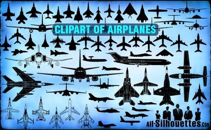 73 Vector Airplane Clipart
