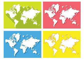 Flat World Map Vectors