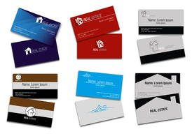 Real Estate Card Vectors