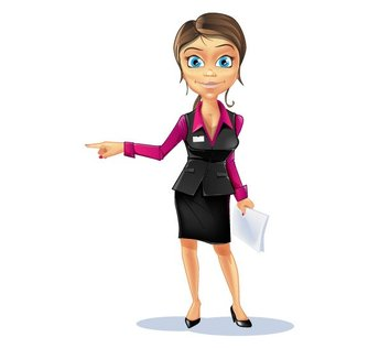 Business Girl Vector Character