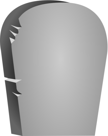 Halloween Rounded Tombstone