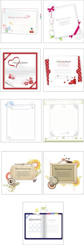 9 Lovely Greeting Cards Stationery