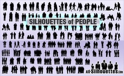 117 Silhouettes of people