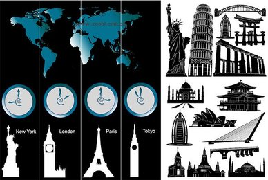 Time zones world-renowned architecture and
