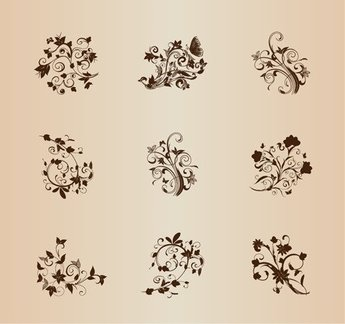 Collection of Design Ornamental Elements