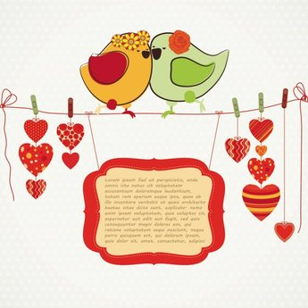 Hand-drawn Illustrations Love Birds 04- Vector Material Hand-drawn Illustration Love Birds