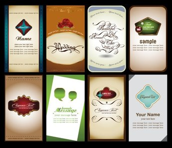 Notes Cards 03- Vector Material Notes Business Cards Labels