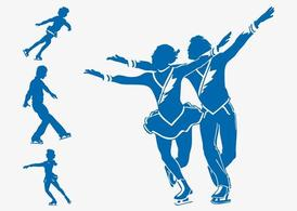 Figure Skaters Silhouettes