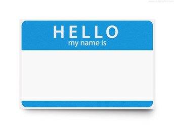 Hello my name is, PSD template