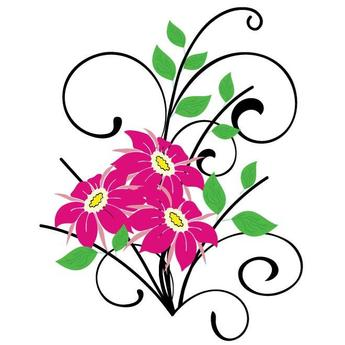 FLOWERS AND BRANCHES VECTOR GRAPHICS.eps