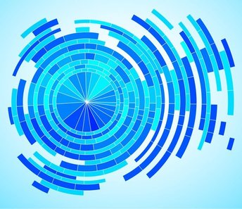 Abstract Tech Blue Background