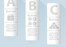 Vertical Business Vector Banners