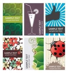 Business card collection - new vector set