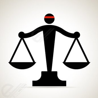 Free vector Black Scale of Justice