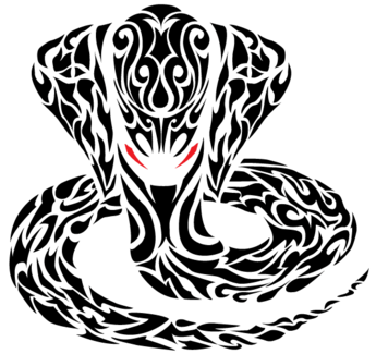 Tribal Cobra Snake Tattoo