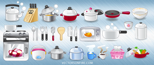 Kitchen Icon Set (25 Icons)