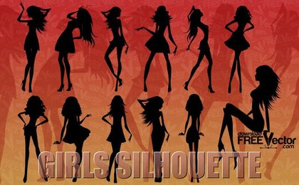 12 Skinny vector girls