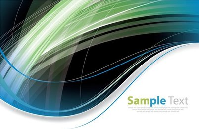 Abstract Modern Futuristic Curves Background