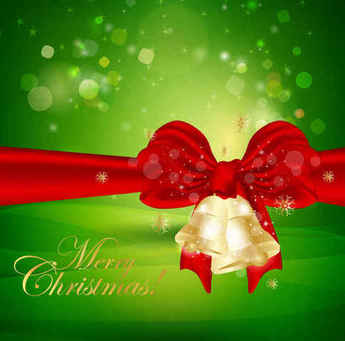 Christmas Bells Green Background