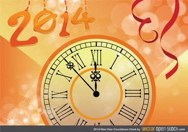 2014 new year countdown clock