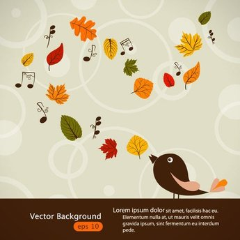 Hand-painted maple leaf background vector-2